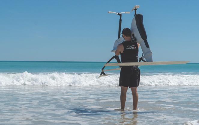 Le Manta 5, un vélo marin facilement transportable (Photo Big Toys on board)