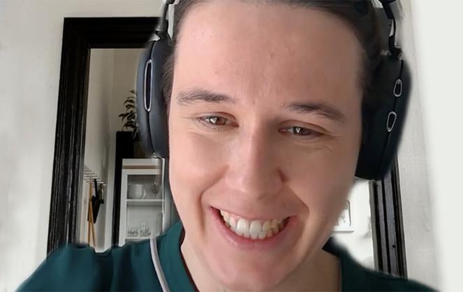 Ella Etienne Denoy, lors de l'entretien distanciel réalisé via Skype.