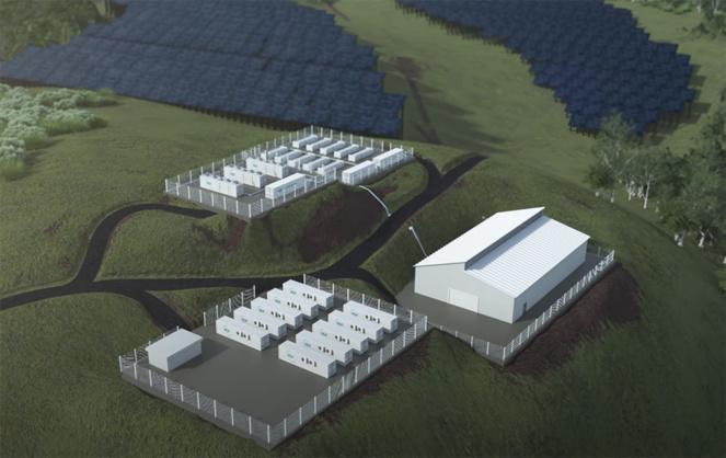le projet de la centrale guyanaise dont le production devrait démarré en 2024 (Extrait vidéo HDF Energy)