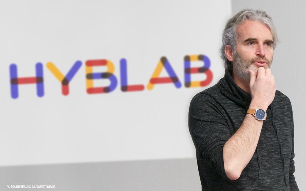 Julien Kostrèche, co-fondateur et co-directeur du cluster Ouest Medialab, lors de la présentation aux candidats potentiels, dernièrement à Angers
