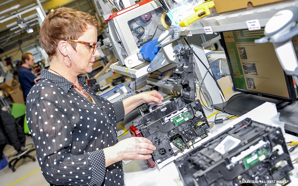 les imprimantes Evolis sont entièrement fabriquées dans les ateliers de Beaucouzé (Angers) dans les Pays de la Loire