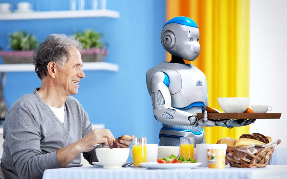 Roméo le robot d'aide à la personne de la société française Aldebaran Robotics