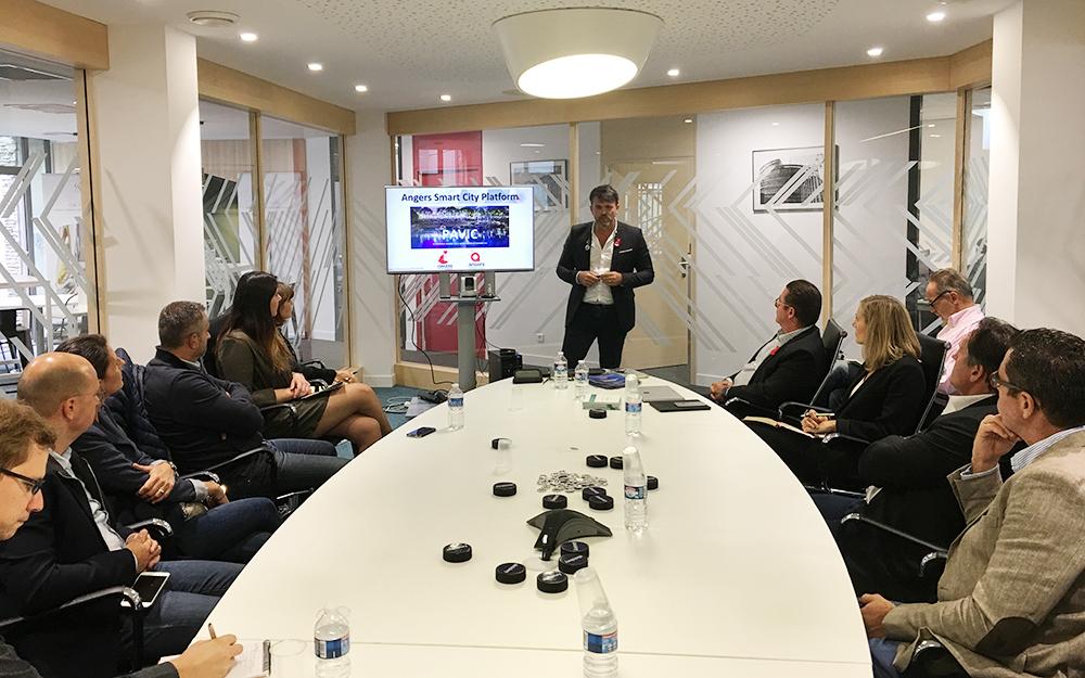 Les participants à la conférence sur la Smart City présenté par l'association PAVIC Angers