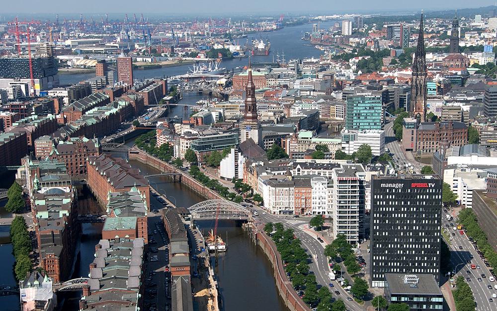 Le quartier de Speicherstadt à Hambourg (Photo Wolfgang Meinhart)