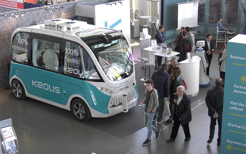Le véhicule autonome Arma, tel que pouvaient le découvrir les visiteurs à Angers