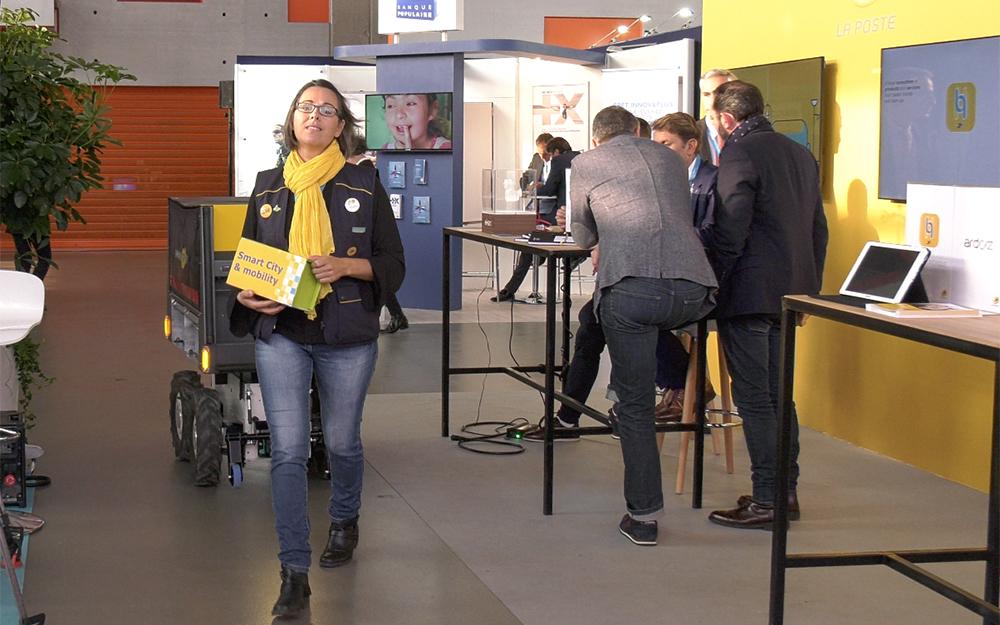 Le Groupe La Poste lors du World Electronics Forum à Angers, en octobre dernier