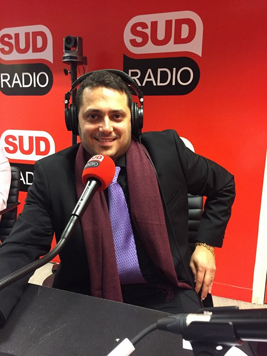 Tony Canadas, lors d'un intervention sur Sud Radio