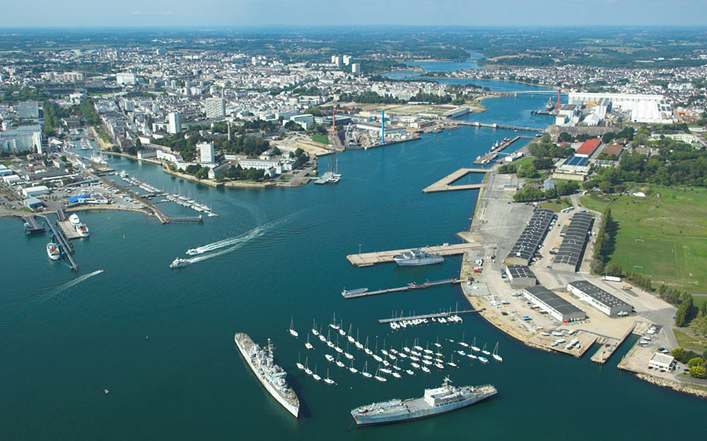 La rade de Lorient (Morbihan) (Photo Wikipedia)