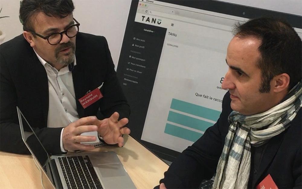 Reynald Werquin, directeur opérationnel de l'association angevine PAVIC, lors d'une rencontre à Pau, avec David Castera, fondateur de TANu Digital