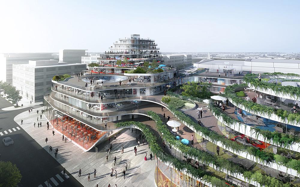 Le projet très futuriste du Quai Saint Serge proposé par le Groupe Giboire