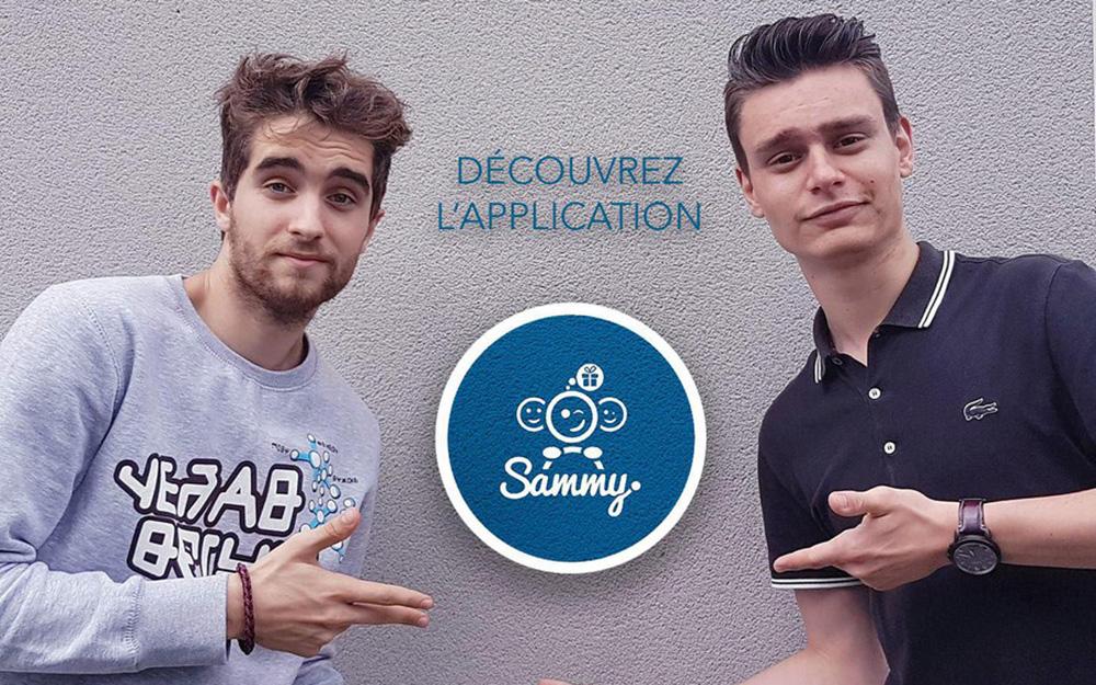 Julien Béliard et Maxime Nivot, les concepteurs de Sammy (Photo Sammy)
