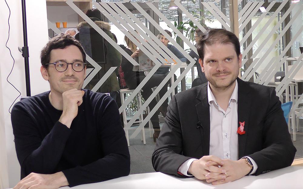 Erwan Querval ( Le Scéno) et Nicolas Gutowski  (ESEO)