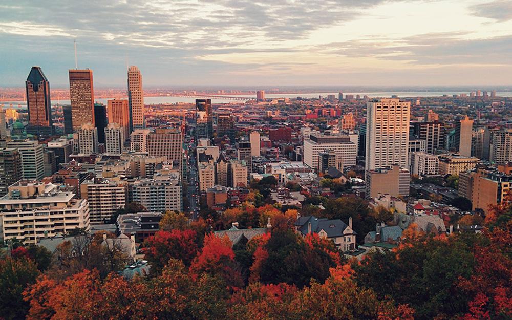 La ville de Montréal (Québec) qui s'est lancé dans le concept de ville intelligente en 2014, sert d'exemple au défi lancé par le gouvernement fédéral (Photo Office de Tourisme du Canada)
