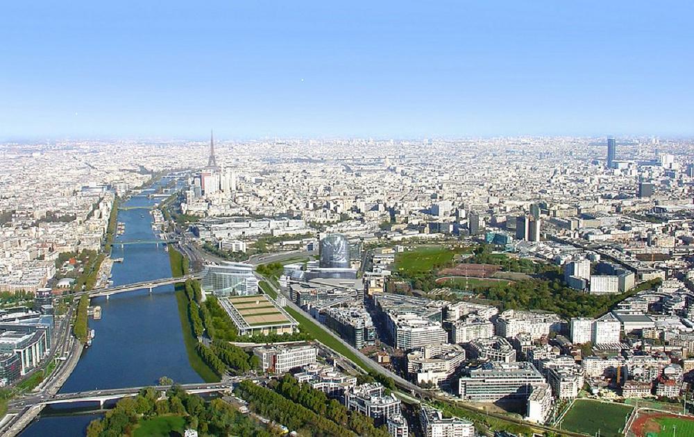 Paris et sa région, vu du coté d'Issy-les-Moulineaux (Photo Mairie d'Issy)
