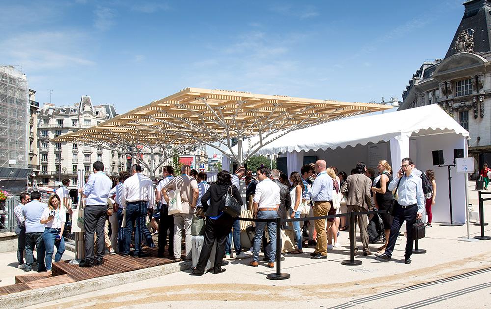 L'îlot frais de la gare de Lyon lors de l'inauguration officielle (Photo wellcom)