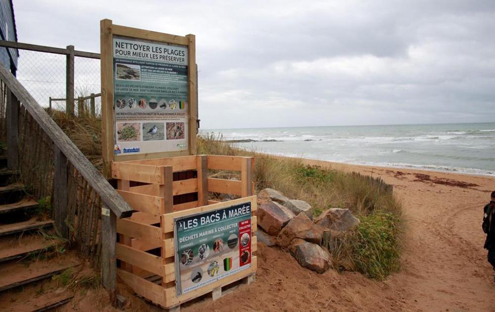 Un bac à marée installé sur une plage de la Chaume (Vendée) (Photo Démocratie de proximité aux Sables d'Olonne)