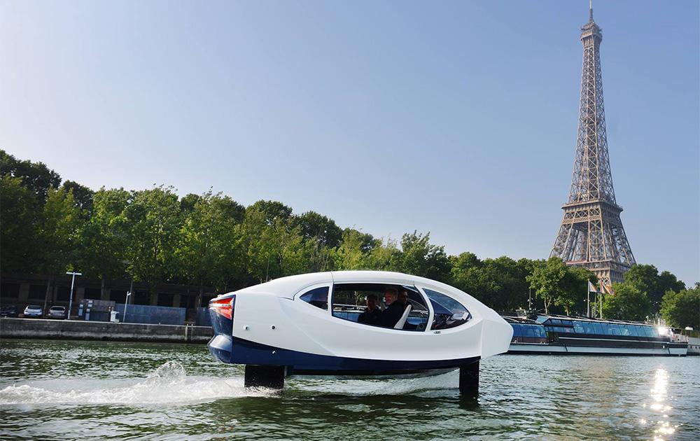 La navette fluviale SeaBubble lors des essais réalisés en mai dernier sur la Seine (Photo SeaBubble)