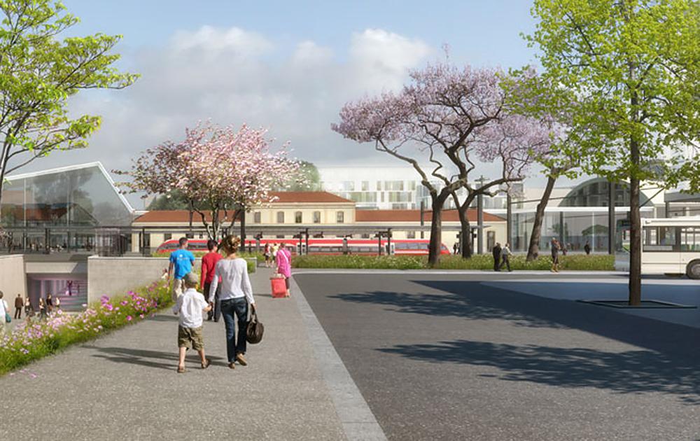 Le projet de la nouvelle gare d'Annemasse (Annemasse Agglo - Photo © Gautier+Conquet )