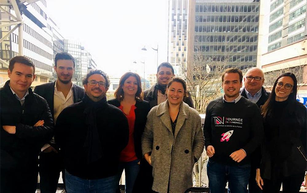 L'équipe de la Tournée du Numérique ( Photo Linkedin JP Delbonnel )