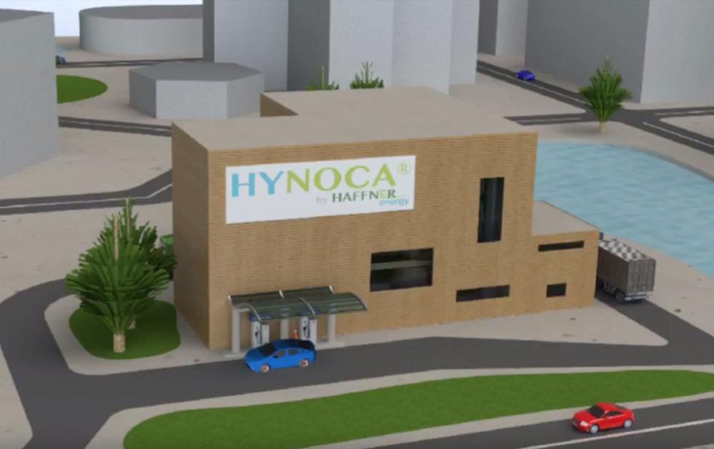 Le projet d'unité de production et station service Hynoca (extrait vidéo Haffner Energy)