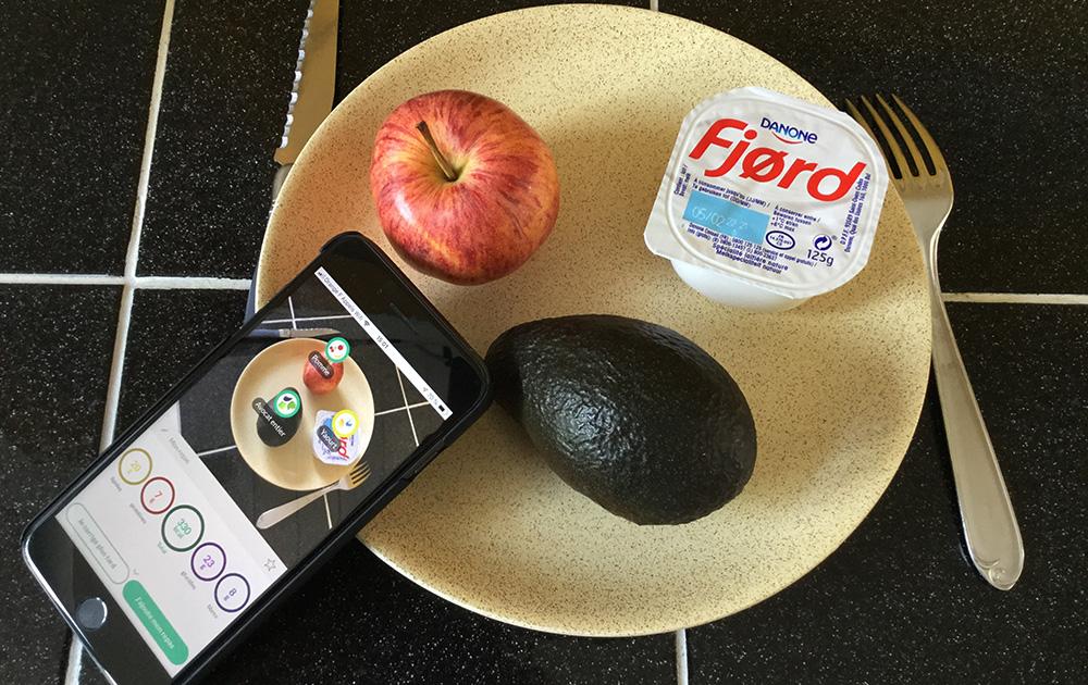 Un repas de 330 kcal correctement identifié par l'application Foodvisor