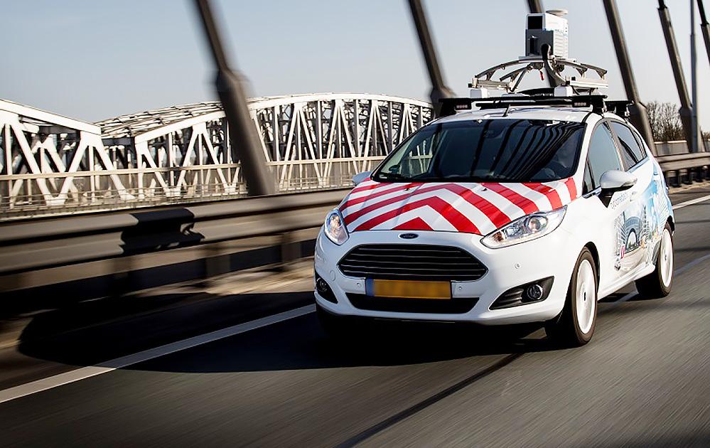 La voiture qui circule dans les rues d'Orléans pour effectuer la captation des images (Photo Cyclomedia)