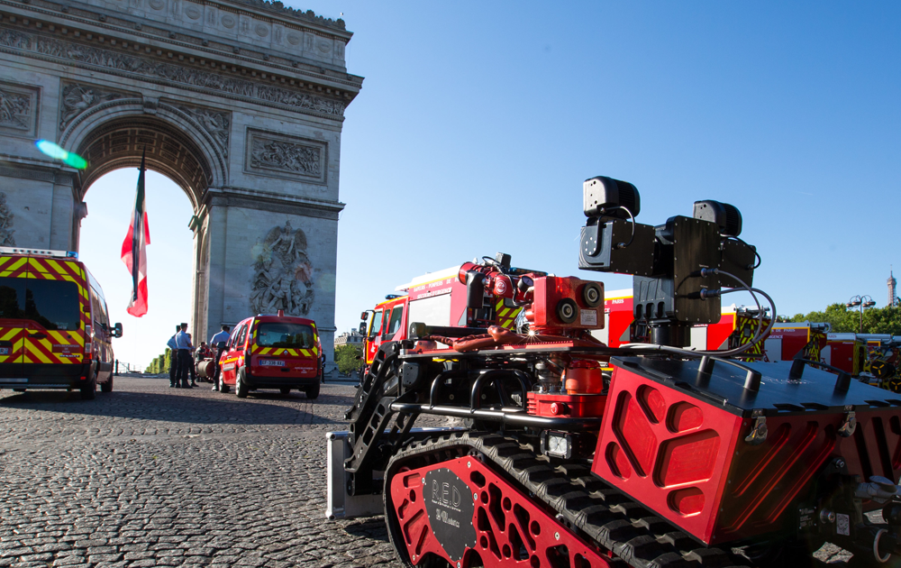 Le robot Colossus utilisé par les Pompiers de Paris ( Photo SHARK ROBOTICS)