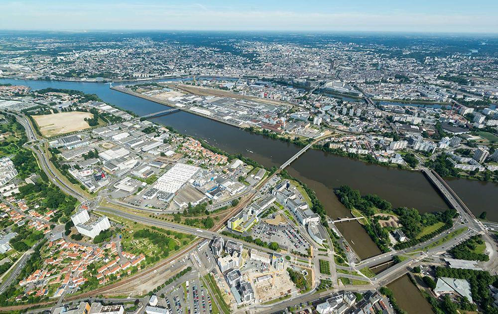 Vue aérienne de la ZAC de Pirmil-les-Isles (photo Nantes Aménagement)