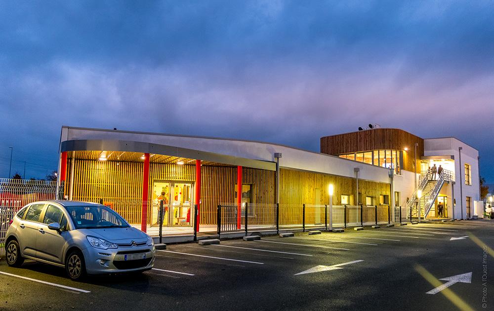 Le nouveau bâtiment est situé à deux pas du site de production d'Angers-Beaucouzé