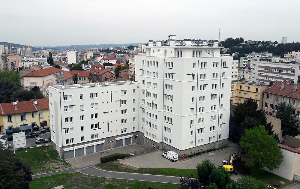 Le quartier de la Rivière à Saint-Etienne (Loire) (Photo Epora)
