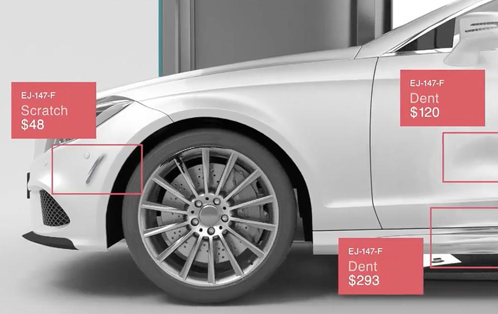 L'intelligence artificielle pour analyser les défauts de carrosserie et chiffrer le coût de réparation (photo WeProov)