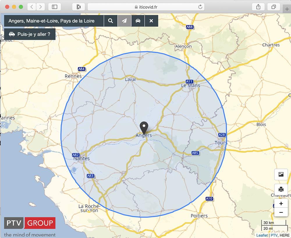 Déconfinement : des cartes interactives pour calculer votre périmètre légal de déplacement