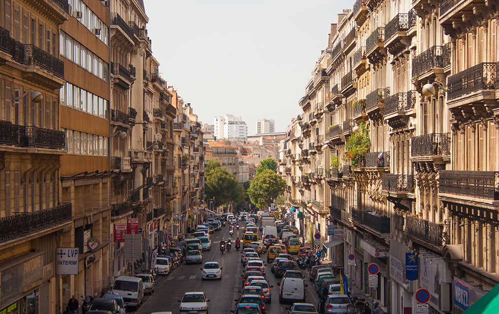 Le centre-ville de Marseille, seconde ville de France (Photo Adobe Stock)