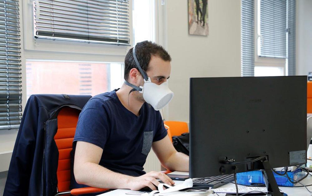 Le masque de protection proposé par la société lyonnaise Ouvry (photo Ocov Ouvry)