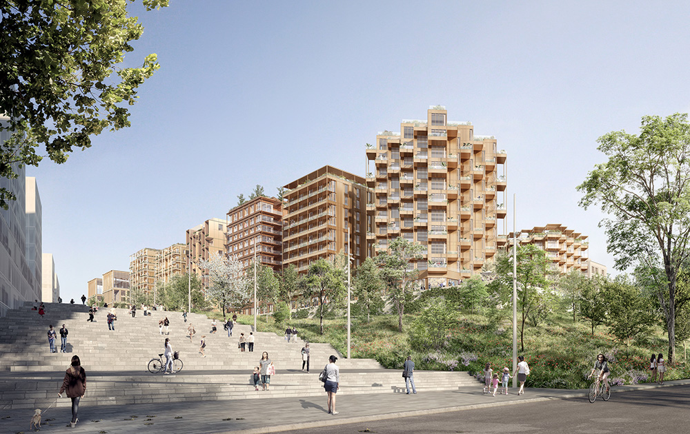Esquisse du village Olympique Paris 2024 (© ailleurs.studio - Icade - Uap / groupement NexitySA - Eiffage Immobilier IDF )
