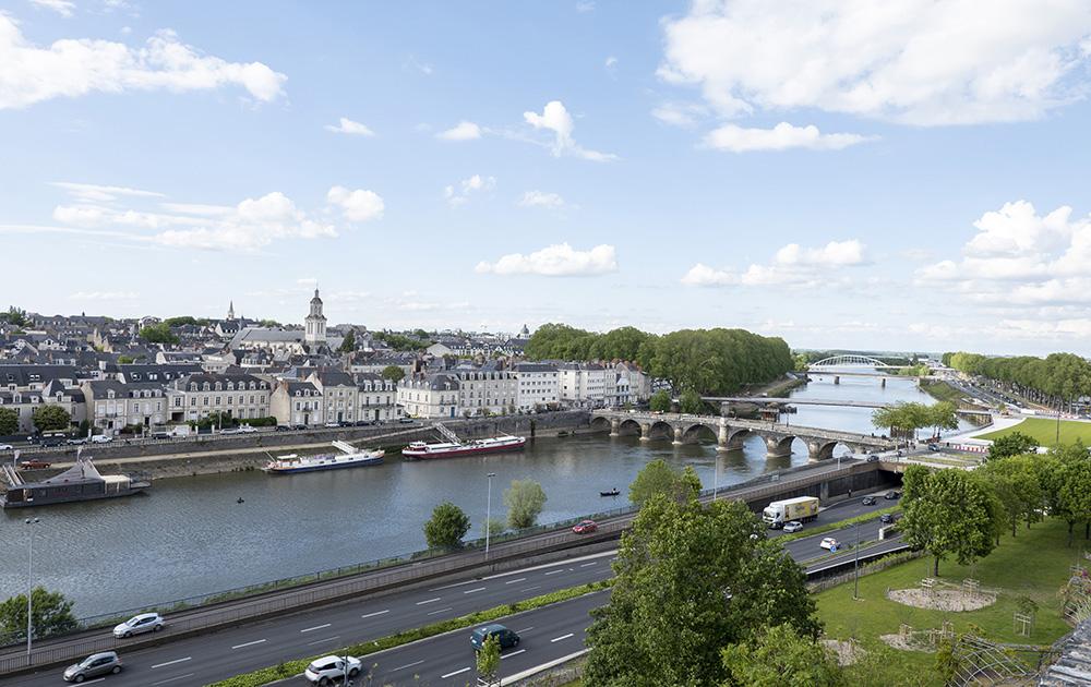 La ville d'Angers vue depuis le château, un territoire urbain en pleine mutation.
