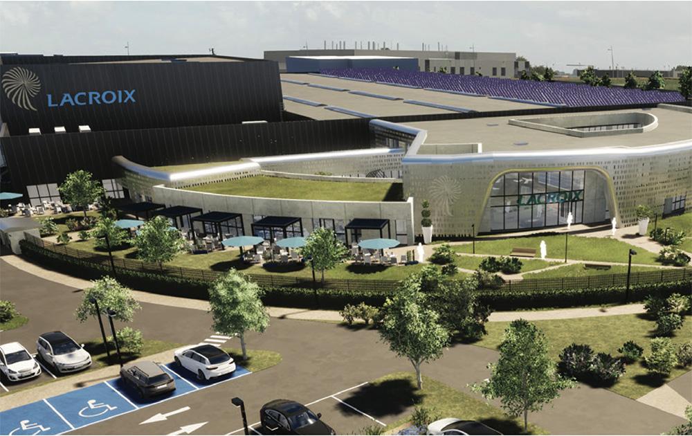 Le nouveau site de Lacroix en construction à Beaupréau (49) ( Image cabinet PVA et Essor Ingénierie)