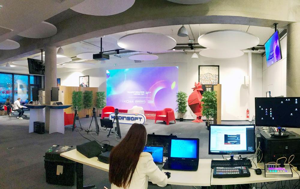"""Une salle de conférence de la Coque lors du récent """"Transformation Meeting Day"""" (Photo La Coque)"""