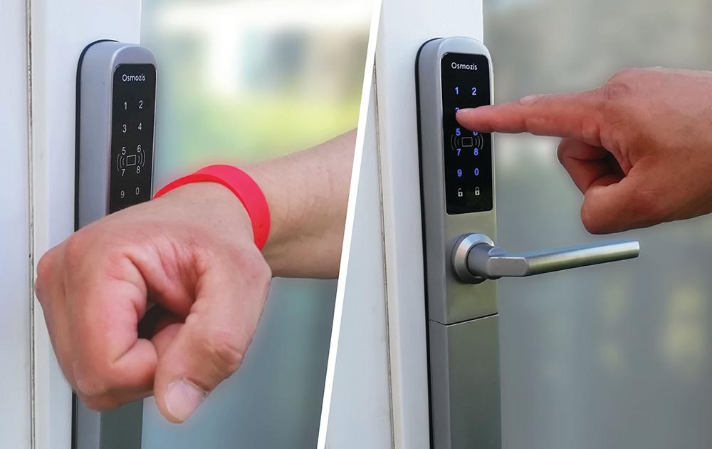 Avec un bracelet RFID ou directement avec les doigts, la serrure connectée OsmoKey facilite l'accès des mobil-homes (photo Osmozis)