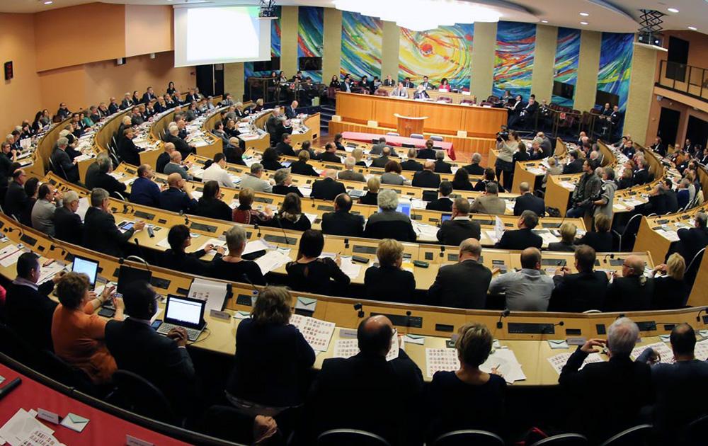 L'hémicycle de la Région Grand Est, avant la crise sanitaire (photo Région Grand Est)