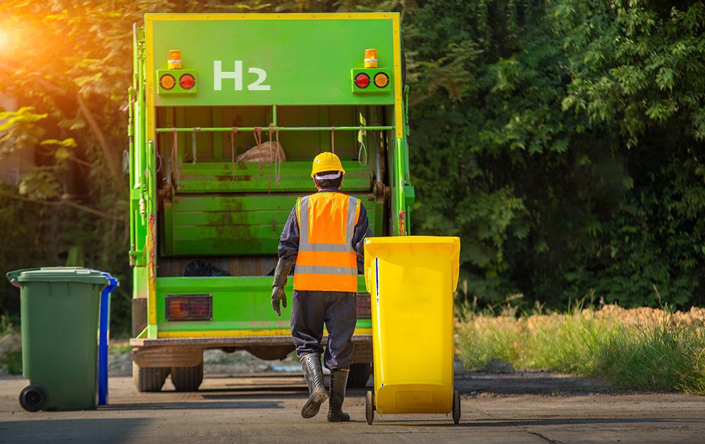 Bientôt des bennes à ordures ménagères roulant à l'hydrogène dans trois métropoles françaises (Photo Adobe Stock)
