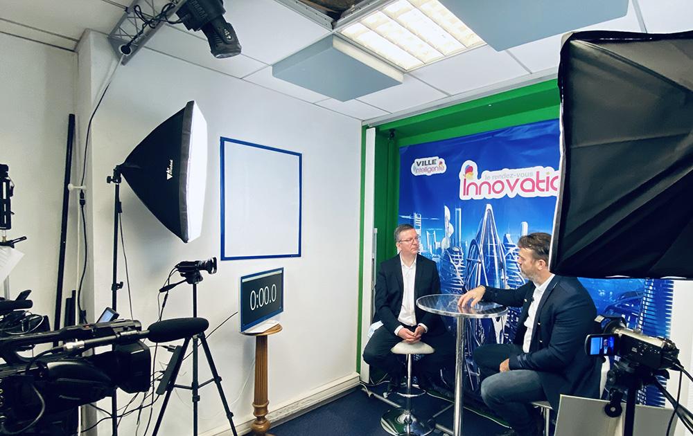 Le studio de la web TV de Ville Intelligente Mag à Angers