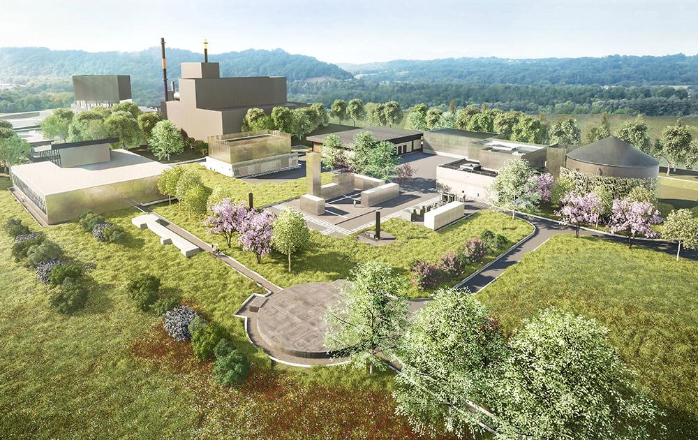 Image 3D de l'unité de dépollution de Lascar (Photo Camborde Architectes)