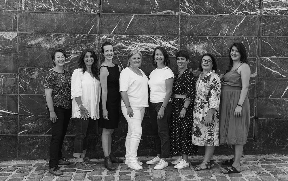 La team Wecare@Work, avec, au centre : Anne-Sophie Tuszynski et Claire Désarnaud (photo Wecare@Work)