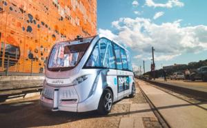Kéolis au CES 2017 de Las Vegas avec la navette sans chauffeur Navya