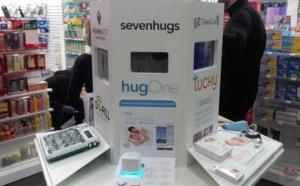 Une borne interactive d'objets connectés en pharmacie