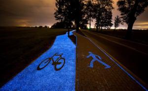 Pistes cyclables rétroéclairées, rechargeables par le soleil : l'exemple de la Pologne