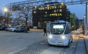 La navette autonome NAVYA va rouler sur route ouverte au Royaume-Uni