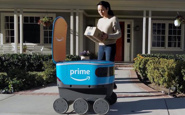 Scout, un robot pour livrer les paquets d'Amazon à domicile